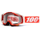 100% Racecraft Goggle fire red / clear
